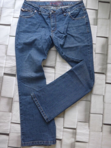 554 Sheego Jeans Stretch Pantaloni Tg 40 a 50 normale e breve MIS BLU tono