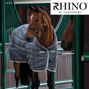 Horseware Rhino Original Heavy Stable Rug with Vari-Layer (Charcoal Grey White C