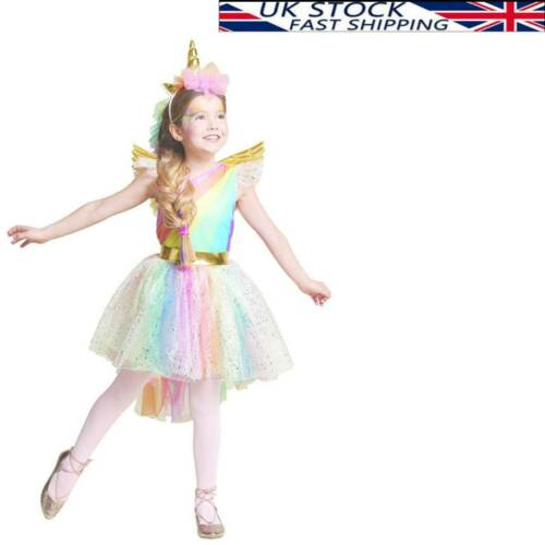 GIRL Kid Halloween Unicorn Costume FANCY DRESS Cosplay Party Book Week Suit Gift