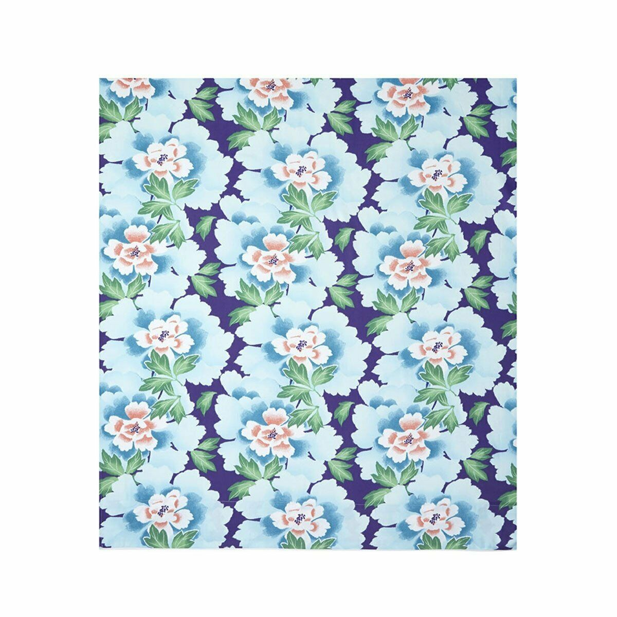 INDONESIE BY KENZO - COTTON SATEEN FLAT SHEET IN FLORAL PRINT