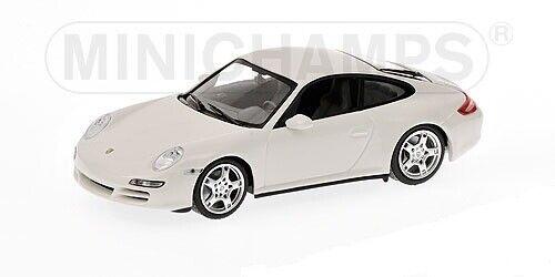 PORSCHE 911 Carrera 4S Coupè 2005 bianca 1 43 MINICHAMPS 400065322