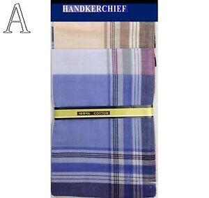 Lot 6 Pcs Cotton Soft Handkerchief Unisex Hankie Pocket Square Men Party Hanky