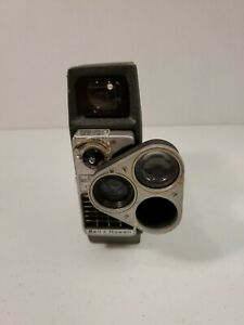 1959 Bell & Howell Electric Eye 393E Perpetua 8mm 3 lens Turret Movie Camera
