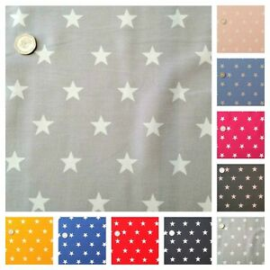 Star-Fabric-HALF-METRE-20mm-White-Star-100-Cotton-Pink-Blue-Red-and-Black
