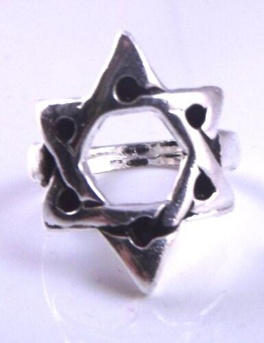 Stern Von David Magen Jüdisch Silberring Kabbala Geschenk Israel Merkaba 3 D
