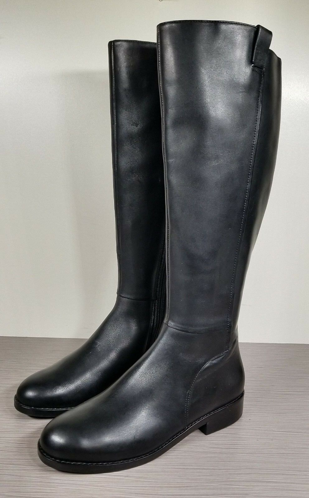 Cole Haan Katrina Riding Boot, Black Leather, Womens Various Sizes