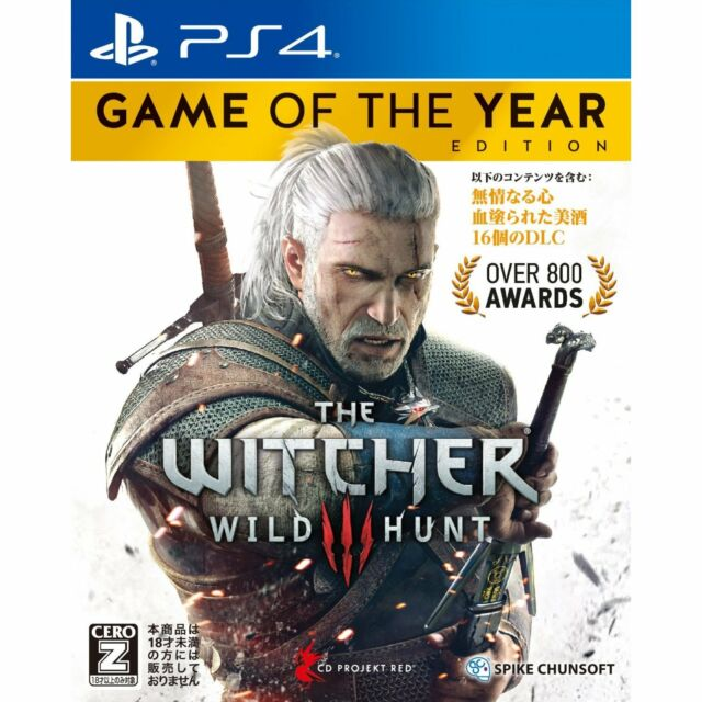 The Witcher 3: Wild Hunt [Game of the Year Ed] SONY PS4 JAPANESE NEW JAPANZON