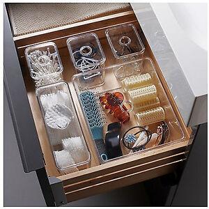 Image Is Loading Ikea Clear Acrylic Jewellery Box Makeup Organizer Cosmetic