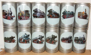 BECKER-039-S-TRAINS-12-cans-Steel-cans-set-from-GERMANY-33cl