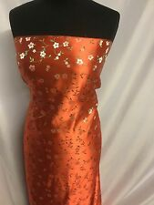 New Italian Silky Floral BROCADE GORGEOUS JACQUARD High Quality Fabric Dress She