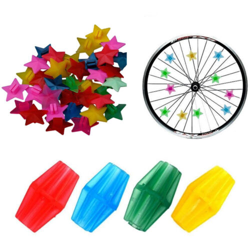 Bicycle Spoke Beads Clip On Bike Wheels Decor DIY Clamps For Children AM5X