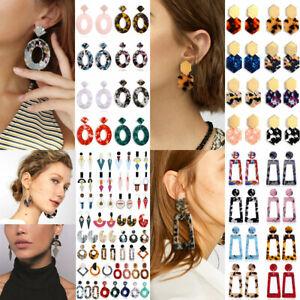 Acrylic-Geometric-Earrings-Statement-Charm-Dangle-Vintage-Punk-Earrings-For-Girl