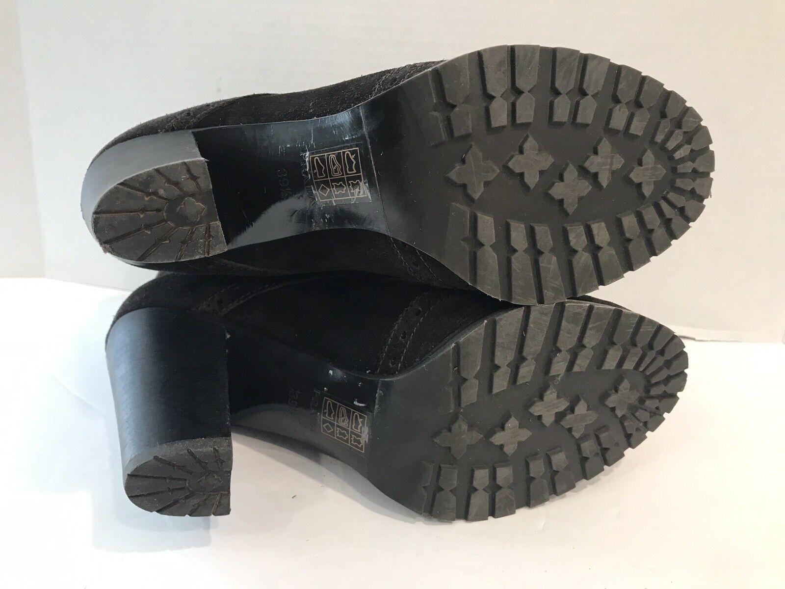Prada Womens Dark Brown Brown Brown Suede Wingtip Bucket Booties Size 39.5 EUR 9 US 5319bc