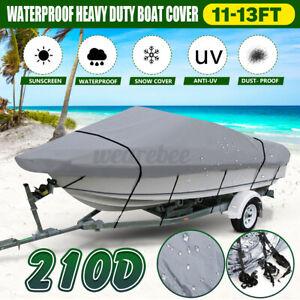 11-13FT-Heavy-Duty-Trailerable-Speedboat-Boat-Cover-Waterproof-For-Fish-Ski-Bass