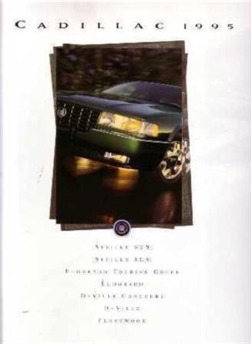 1995 Cadillac Sales Brochure Literature Dealer Advertsiement Options Features