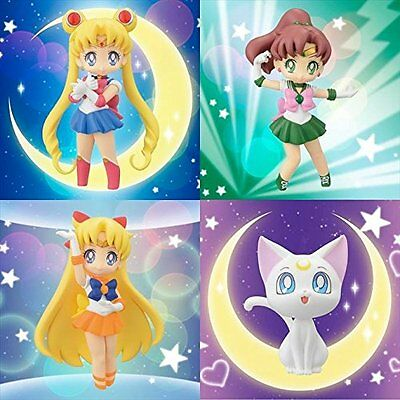 Sailor Moon mini figure with stand 4 pcs Set Atsumete Figure for Girls vol.2 F/S