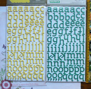 Letter-amp-Number-SUNNY-Glitter-THICKER-Sticker-20-30mmHigh-2-Colour-Choice-L2L