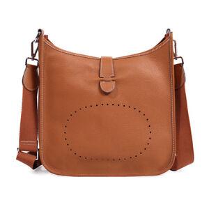 91549664de Image is loading Women-Genuine-Leather-Shoulder-Bag-Bucket-Purse-Fashion-
