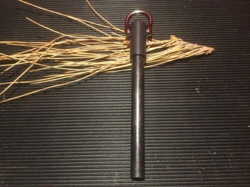 """black D-Ring FERRO PRO  6:  6/"""" x 1//2/"""" Ferrocerium Rod Gunmetal"""
