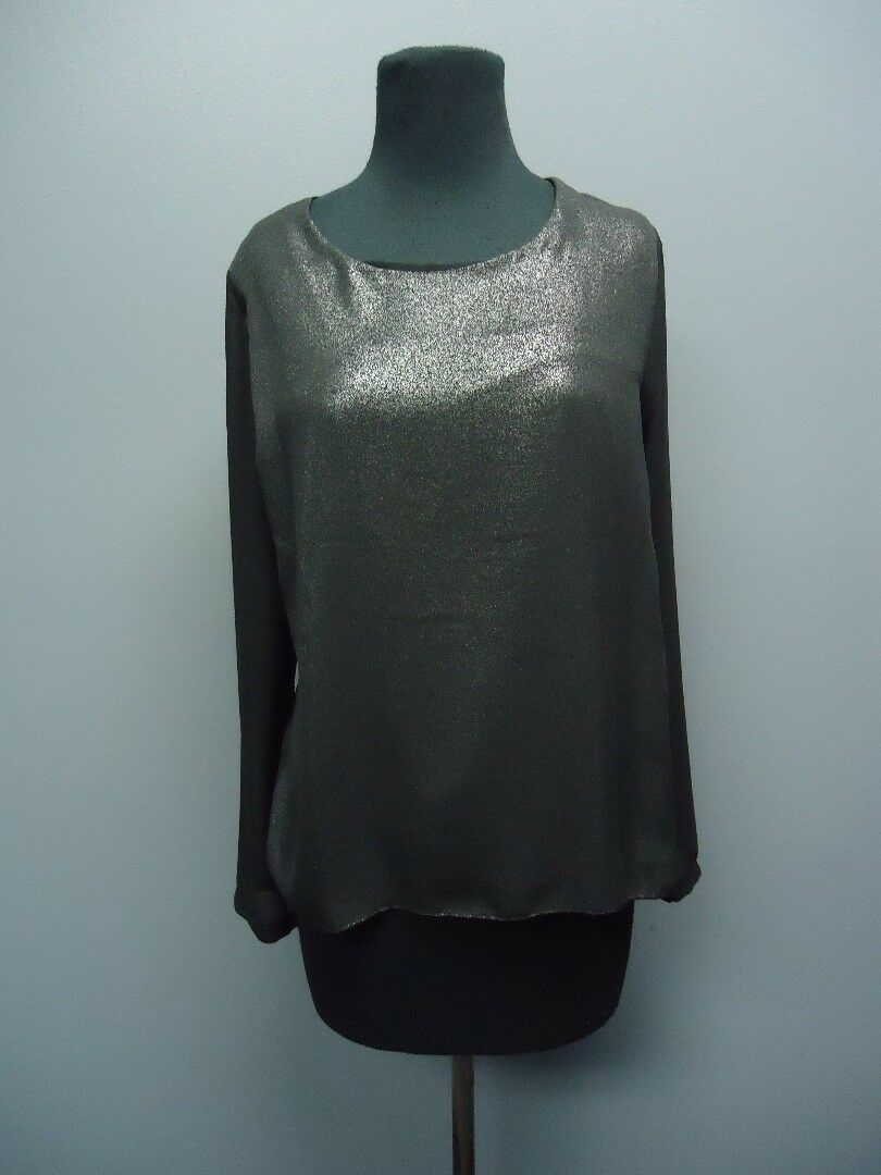 FEMME FATALE schwarz Long Sleeves Scoop Neck Blouse Sample NWT Sz S EE9426