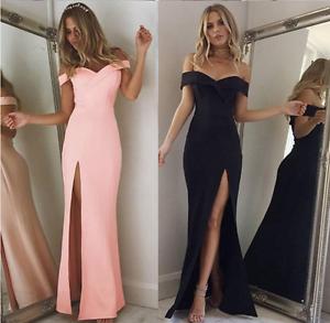 Women-039-s-Off-Shoulder-Dress-Bodycon-Evening-Party-Cocktail-Short-Mini-Dress-AU
