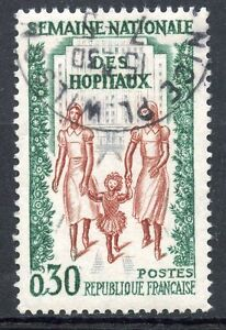 STAMP-TIMBRE-OBLITERE-N-1339-SEMAINE-NATIONALE-DES-HOPITAUX
