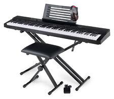 Digital 88 Tasten Keyboard E-Piano Stage Piano Set X-Ständer Hocker Kopfhörer
