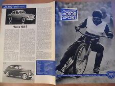 ILLUSTRIERTER MOTORSPORT 10 - 16.5. 1962 *Speedway Volvo 122 S Motocross Apolda