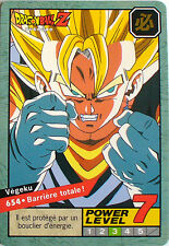 CARTE DRAGON BALL LE GRAND COMBAT N-¦ 654 VEGEKU POWER LEVEL 7