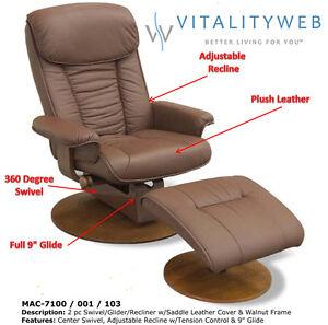 Image Is Loading MAC Motion Swivel Swing Recline Glider Recliner Chair
