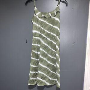 LOFT-Sun-Dress-Green-Tie-Dye-Summer-Woman-039-s-XS-Petite-XSP