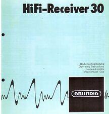 Grundig Bedienungsanleitung für HiFi Receiver 30