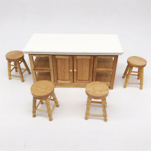 1-12-Doll-House-Wooden-High-Stool-Miniature-Living-Room-Furniture-Eager