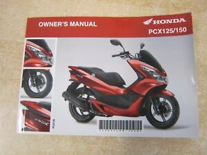 honda pcx 125 150 owners manual drivers handbook riders book ebay rh ebay co uk