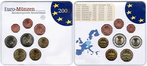 Germany Official Course Set 2002 D Brilliant Uncirculated