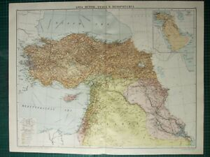 Map Of Asia Minor.Details About 1919 Large Map Asia Minor Syria Mesopotamia Mosul Arabia Cyprus Constantinople