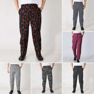 4775e691e24 Image is loading Chef-Work-Pants-Restaurant-Kitchen-Uniform-Cook-Trousers-