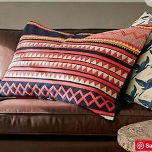 Pottery Barn Mia Appliqué Lumbar Pillow Cover 20 X 30 Boho Chic Ebay