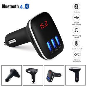 usb bluetooth sans fil voiture transmetteur fm radio mp3 musique lecteur ebay. Black Bedroom Furniture Sets. Home Design Ideas