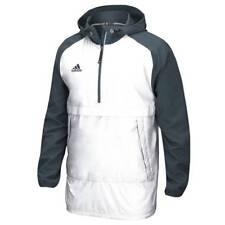 adidas Men's Modern Varsity Anorak Quarter Zip Jacket Hooded Athletic Pullover