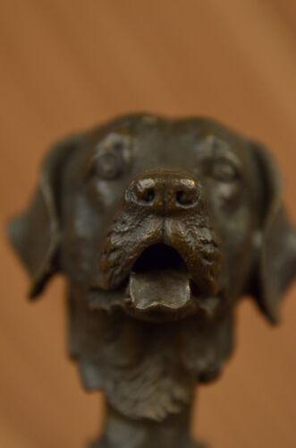 HOT CAST BRONZE DOG FIGURE SCULPTURE LAB LABRADOR RETRIEVER SIGNED YANEZ FIGURE