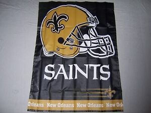 NEW-ORLEANS-SAINTS-WINCRAFT-27X37-pole-flag-superior-qlty-NFL-Lic-made-in-USA
