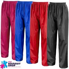 KIDS WATERPROOF OUTDOOR RAIN OVER TROUSERS CHILDS  BOYS OR GIRLS   3yrs to 12yrs