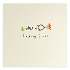 Image Is Loading Birthday Fishes Pencil Shavings Card Handmade Greeting