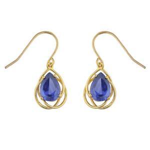 Details About 14kt Gold 4 Ct Tanzanite Pear Teardrop Design Dangle Earrings