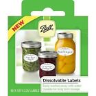 Ball 10734 Pack of 60 Dissolvable Food Canning Jar Labels Use on Glass or Lid