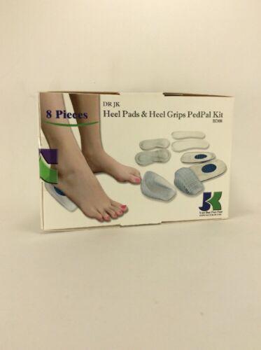 sku:by14 DR JK Heel Pads Heel Grips and Plantar Fasciitis PedPal Kit 8 Piece