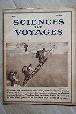 Sciences et Voyages - N°80  MARS 1921 - ASCENSION MONT BLANC - ANIMAUX MONTES