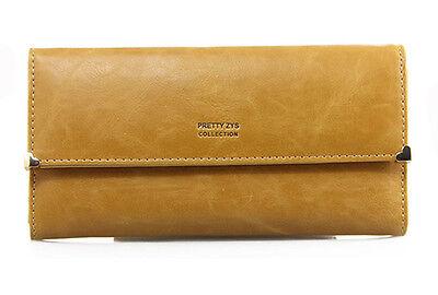 Fashion Clutch Matte Leather Women's Wallet Lady Card Purse Girl Handbag 8Colors