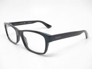 New-Authentic-Gucci-GG0006O-005-Black-Eyewear-Eyeglasses-GG-0006O-55mm-Rx-able